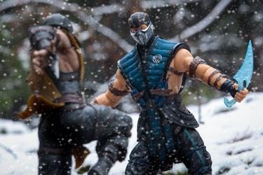 Mortal kombat - sub zero vs scorpion - plakat wymiar do wyboru: 84,1x59,4 cm