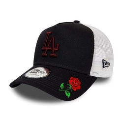 Czapka z daszkiem new era mlb los angeles dodgers a frame trucker custom rose - 12285475