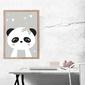Panda szare tło - plakat wymiar do wyboru: 40x50 cm