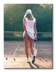 Tennis girl - obraz na płótnie