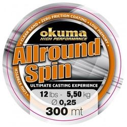 Żyłka spinningowa okuma allround spin 300m 36lb 16,2 kg 0,45mm