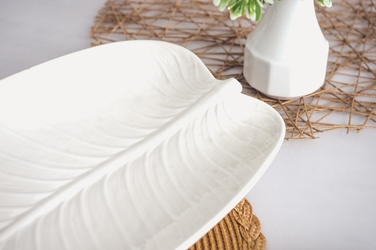 Półmisek porcelanowy liść 45.5 x 21 cm
