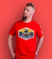 Developer hardcore t-shirt męski czerwony xl