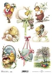 Papier ryżowy ITD A4 R485 pisanki Wielkanoc