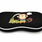 Etui futerał na okulary dla dzieci czarne z małpką sc-10a