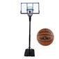 Zestaw kosz do koszykówki regulowany + piłka spalding nba platinum