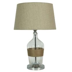 Lampa gabinetowa z lnianym abażurem eco candellux 41-21519
