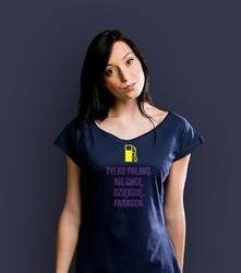 Tylko paliwo paragon t-shirt damski granatowy xxl
