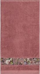 Ręcznik fleur ciemnoróżowy 60 x 110 cm