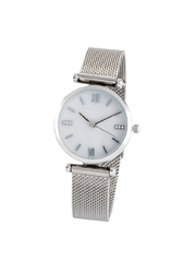 Zegarek na metalowej bransoletce bonprix srebrny kolor
