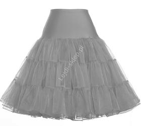 Szara spódnica pin-up, szara halka pod sukienkę   szare halki do sukienek pin-up