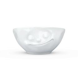 58products - miseczka - szczęśliwa buźka - biała błyszcząca - 350 ml