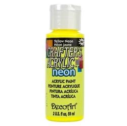 Farba akrylowa Crafters Acrylic 59 ml - żółty neonowy - ŻÓŁNEO