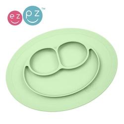 Ezpz silikonowy talerzyk z podkładką mały 2w1 mini mat pastelowa zieleń
