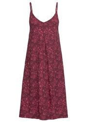 Sukienka shirtowa z nadrukiem bonprix czerwień granatu