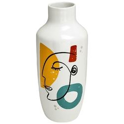Ceramiczny wazon ze wzorkami arty