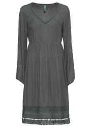 Sukienka z koronką bonprix ciemnoszary
