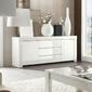 Amaretto biała włoska lakierowana komoda 2d 3s