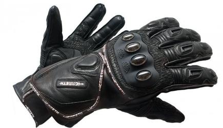 Gareth rękawice skórzane letnie model reflex kolor czarny