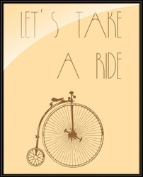 Lets take a ride - plakat
