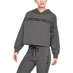 Bluza damska ua taped fleece hoodie - czarny