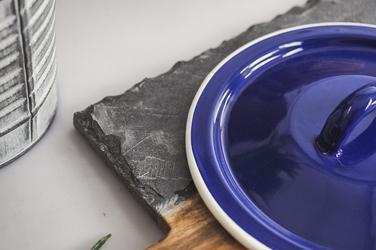Pokrywa emaliowana 14 cm niebieski