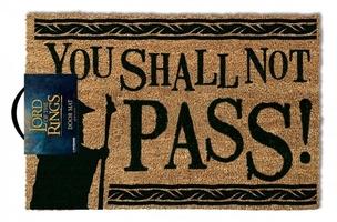 Władca pierścieni quot;you shall not passquot;  - wycieraczka
