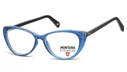 Oprawki korekcyjne kocie zerówki montana ma57f niebiesko-czarne
