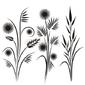 Obraz na płótnie canvas trzyczęściowy tryptyk japońskie wzory kwiatowe