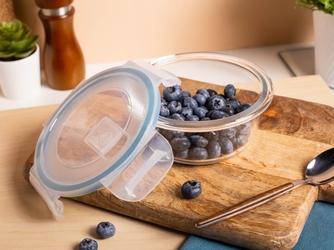 Pojemnik żaroodporny do mikrofali i piekarnika  do przechowywania z pokrywą i wentylem altom design vega okrągły 0,4 l