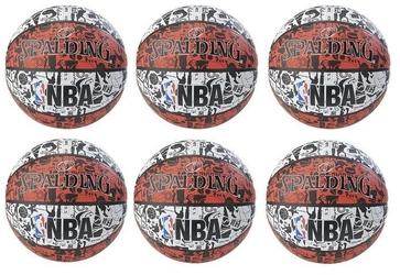 Piłka do koszykówki spalding nba graffiti usa outdoor - 6 sztuk