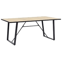 Vidaxl stół jadalniany, dębowy, 200 x 100 x 75 cm, mdf