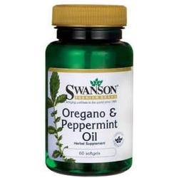 Swanson oregano  peppermint oil olej z oregano i mięty pieprzowej x 60 kapsułek