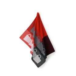 Kela - tabea cups - ściereczka kuchenna, czerwona-czarna - czerwony || czarny