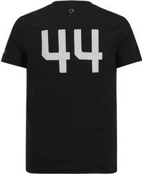 Koszulka mercedes amg hamilton 44 czarna - czarny