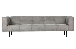 Woood sofa skin 4-osobowa 2,5 m jasnoszara 375113-l
