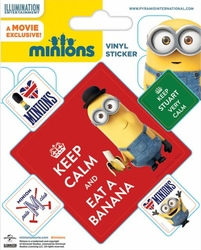 Minionki Keep Calm - naklejka