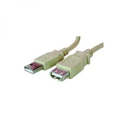 Kabel usb 2.0, usb a  m- usb a f, 1.8m, czarny