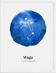 Plakat Zodiak Waga 40 x 50 cm