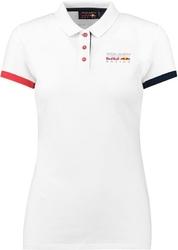 Koszulka polo damska red bull racing biała - biały