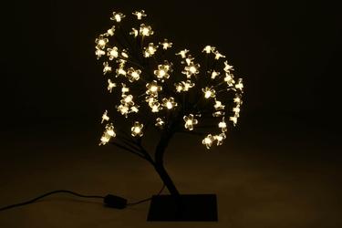 Drzewko świecące 64 led, ciepłe białe, bonsai kwiatki