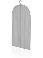 Krótki pokrowiec na ubrania, szary