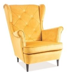 Aksamitny fotel wypoczynkowy lady velvet