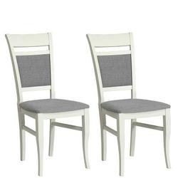 Krzesła genua tapicerowane komplet 2 szt. szare