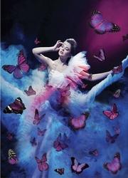Papier ryżowy Decomania 35x50 cm kobieta motyle