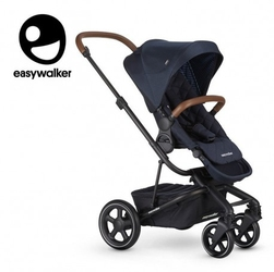Easywalker harvey² premium wózek głęboko-spacerowy sapphire blue zawiera stelaż, siedzisko z budką, pałąk, folię przeciwdesz. i