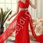Czerwona długa suknia sylwester  studniówka