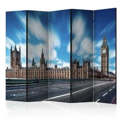 Parawan 5-częściowy - słoneczny londyn ii room dividers