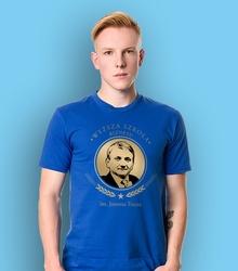 Wyższa szkoła biznesu im. janusza tracza t-shirt męski niebieski xl