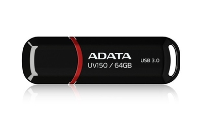 Adata pendrive dashdrive value uv150 64gb usb 3.2 gen1 black